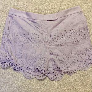 Lilac Lace Shorts